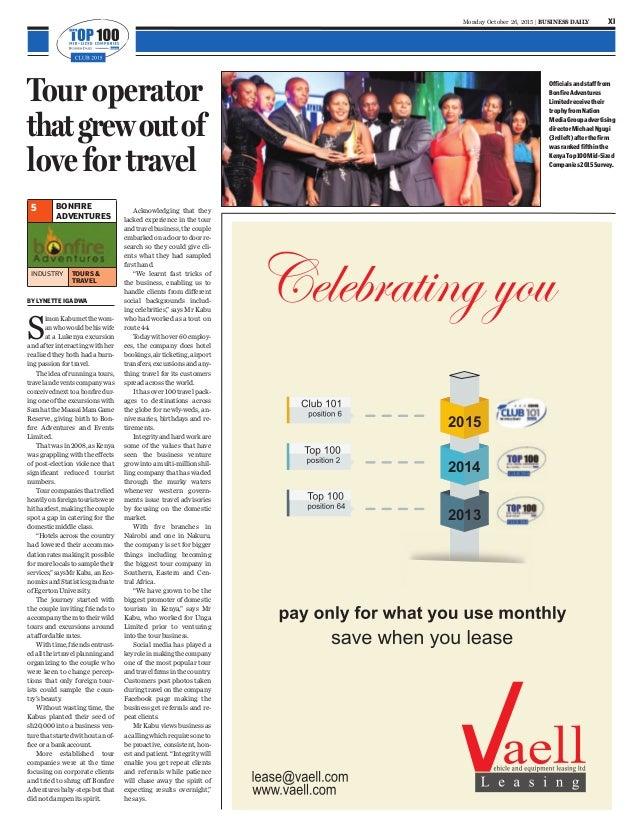 Kenya Top 100-Online Newspaper : Kenya's Fastest Growing Mid