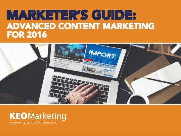 Advanced Content Marketing Guidelines
