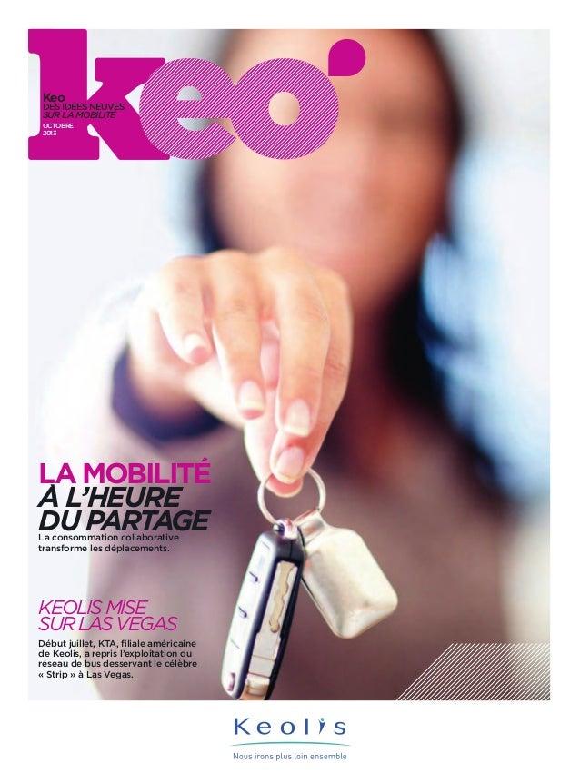 Keo  Des idées neuves sur la mobilité octobre 2013  la mobilité a l'heure du partage La consommation collaborative transfo...