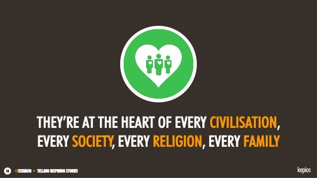 @ESKIMON • TELLING INSPIRING STORIES14 THEY'RE AT THE HEART OF EVERY CIVILISATION, EVERY SOCIETY, EVERY RELIGION, EVERY FA...
