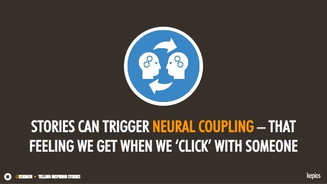 @ESKIMON • TELLING INSPIRING STORIES35 STORIES CAN TRIGGER NEURAL COUPLING – THAT FEELING WE GET WHEN WE 'CLICK' WITH SOME...