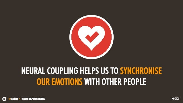 @ESKIMON • TELLING INSPIRING STORIES36 NEURAL COUPLING HELPS US TO SYNCHRONISE OUR EMOTIONS WITH OTHER PEOPLE