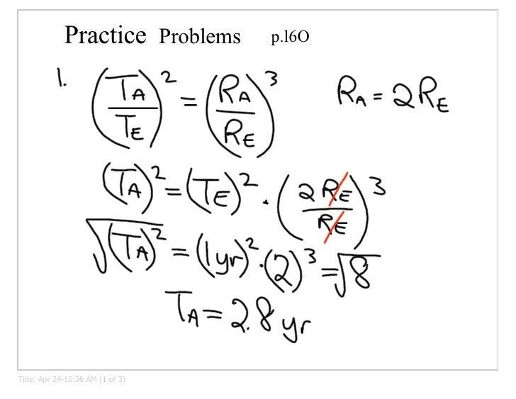 Kepler's 3rd Law Problems