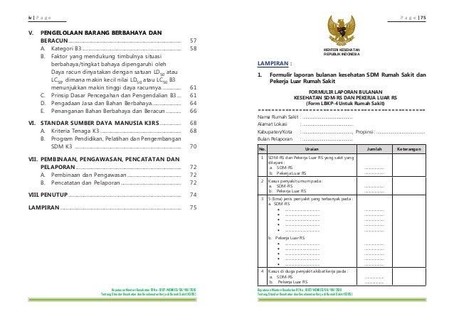 Contoh Laporan Bulanan K3 Rumah Sakit Ilmusosial Id