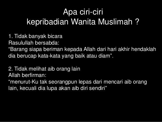 Kepribadian Muslimah Dan Hijab Siti Khadijah Ibrahim