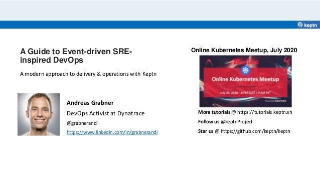 A Guide to Event-driven SRE- inspired DevOps Andreas Grabner DevOps Activist at Dynatrace @grabnerandi https://www.linkedi...
