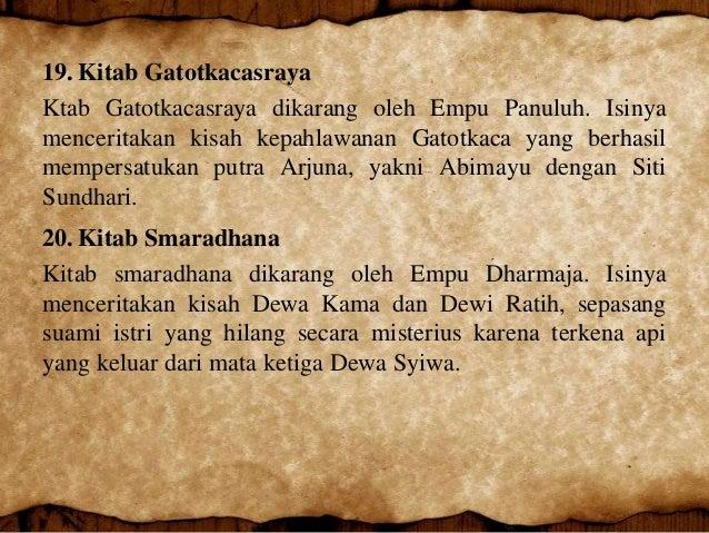 Peninggalan Kerajaan Kediri Kitab Sumanasantaka