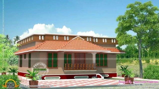 kerala home design single storied houses - Single Home Designs