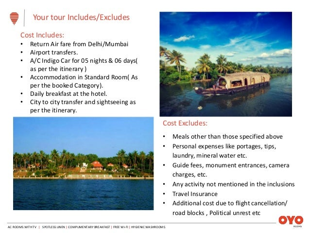 OYO B2B Kerala Fixed Departure Holiday Package (With Flights)