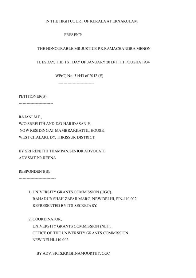 IN THE HIGH COURT OF KERALA AT ERNAKULAM                                   PRESENT:              THE HONOURABLE MR.JUSTICE...