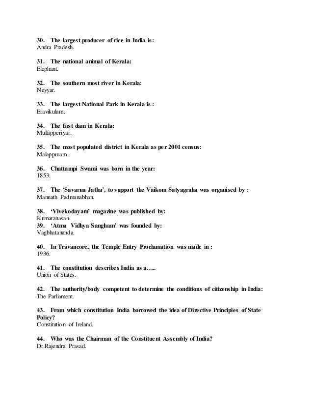 Kerala psc sa previous exam solved papers Slide 3