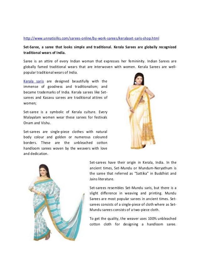 Kerala Sarees,Handloom works,Unique designs,Unnatisilks-Online shopping http://www.unnatisilks.com/sarees-online/by-work-s...