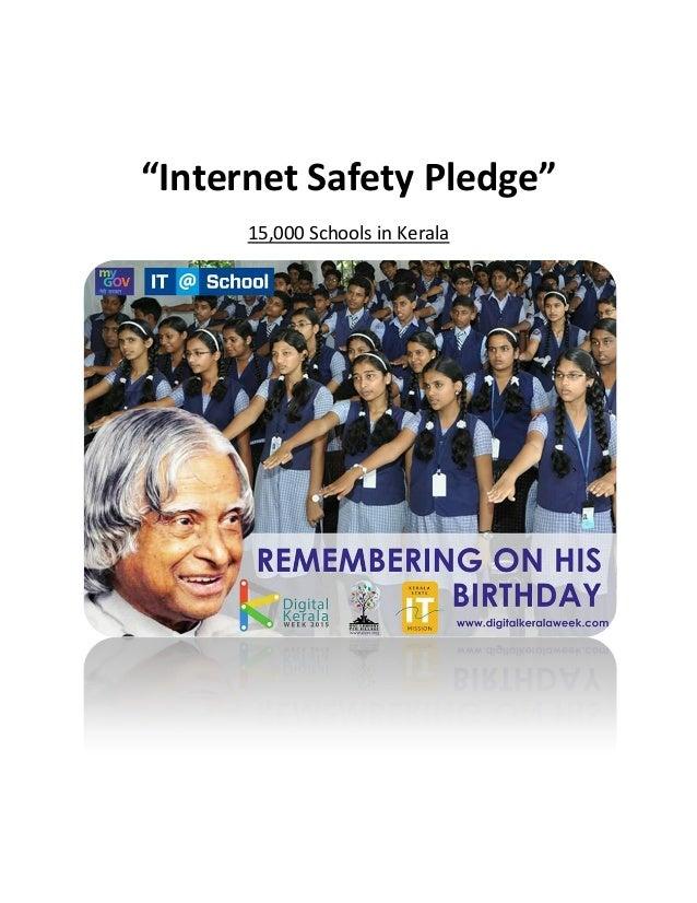 """Internet Safety Pledge"" 15,000 Schools in Kerala"