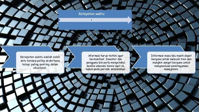 Ketepatan waktu adalah salah satu konsep paling sederhana tetapi paling penting dalam akuntansi. informasi harus terkini a...