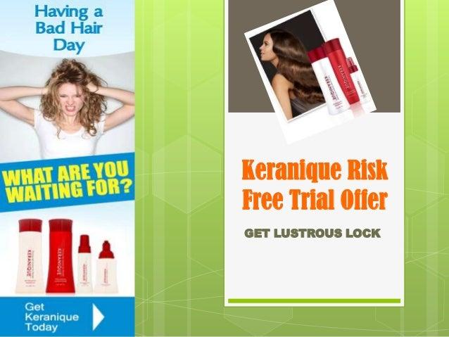 Keranique Risk Free Trial Offer GET LUSTROUS LOCK