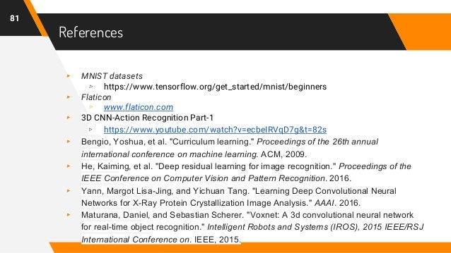 References ▸ MNIST datasets ▹ https://www.tensorflow.org/get_started/mnist/beginners ▸ Flaticon ▹ www.flaticon.com ▸ 3D CN...
