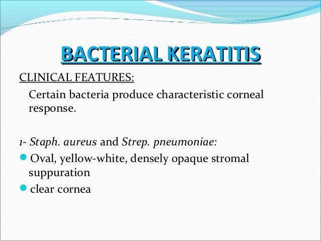Large Corneal infiltration in bacterial keratitis