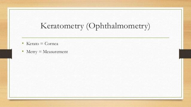 Keratometry Slide 2