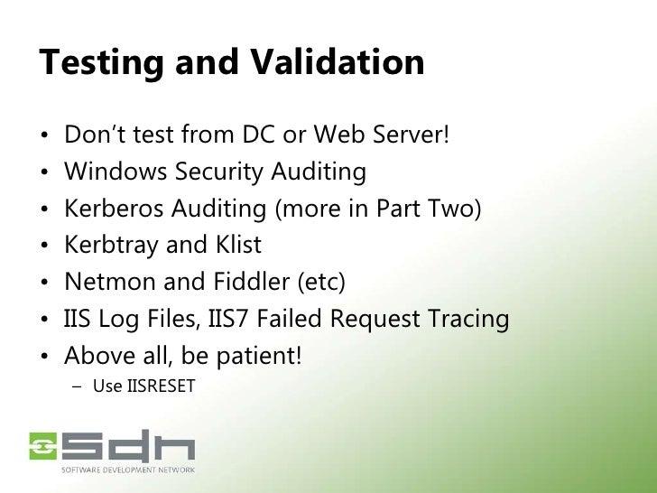 Demonstration<br />Implementing Kerberos for SharePoint<br />