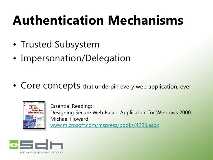 Agenda<br />Two-part session<br />Part One (this session!)<br />Authentication Methodologies<br />Kerberos Overview<br />W...