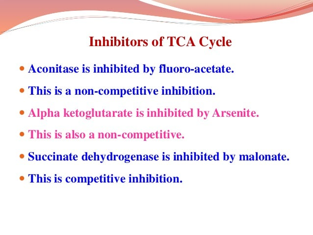 Important anabolic reactions of TCA cycle  Oxaloacetate is precursor for aspartate.  α-ketoglutarate can be transaminate...
