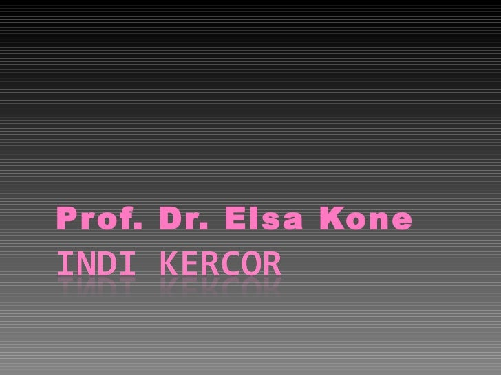 Pr of. Dr. Elsa Kone