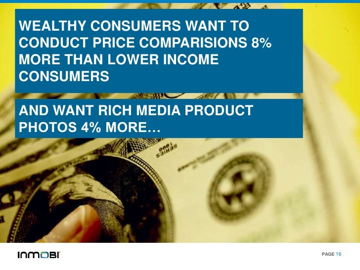 WEALTHY CONSUMERS WANT TOCONDUCT PRICE COMPARISIONS 8%MORE THAN LOWER INCOMECONSUMERSAND WANT RICH MEDIA PRODUCTPHOTOS 4% ...