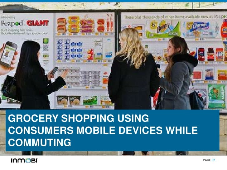 GROCERY SHOPPING USINGCONSUMERS MOBILE DEVICES WHILECOMMUTING                                 PAGE 25