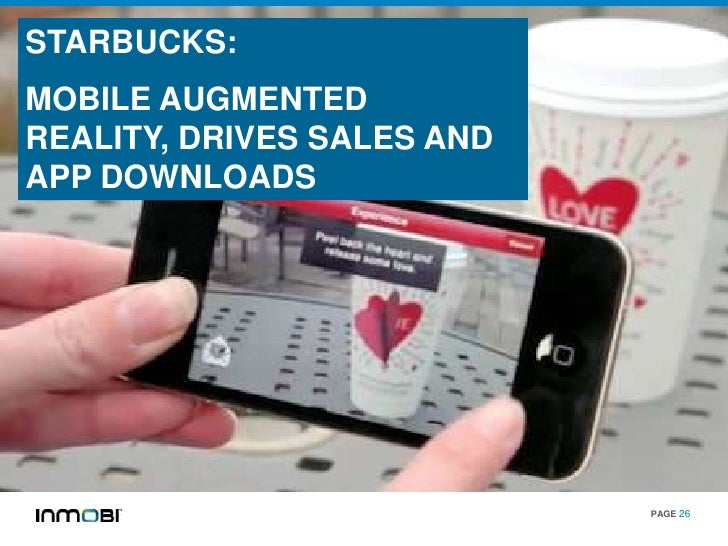 STARBUCKS:MOBILE AUGMENTEDREALITY, DRIVES SALES ANDAPP DOWNLOADS                            PAGE 26