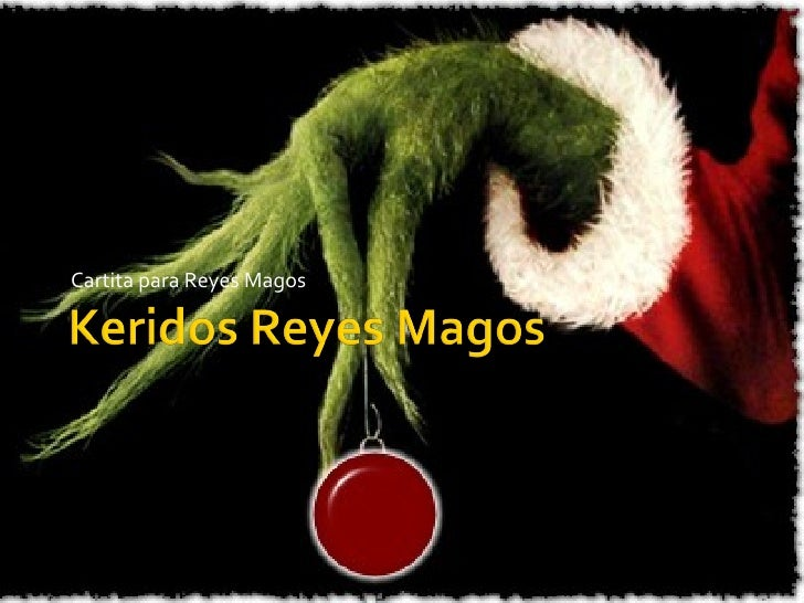 Cartita para Reyes Magos