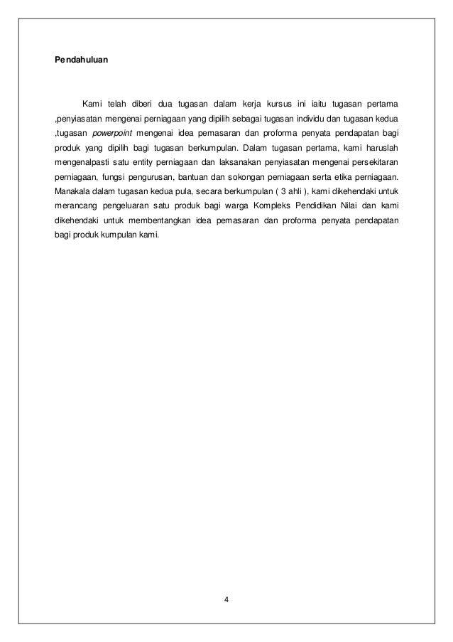 Kerja Kursus Asas Perniagaan Dan Keusahawanan