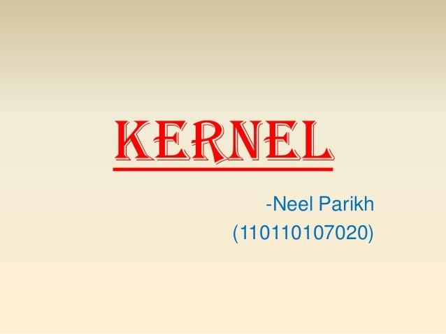Kernel -Neel Parikh (110110107020)