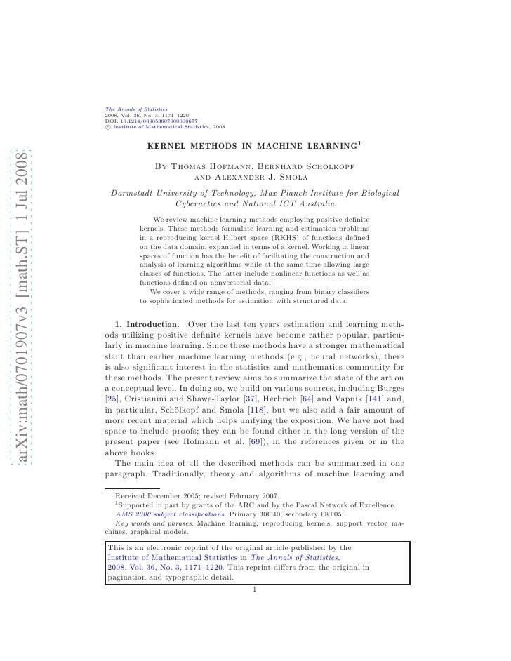 The Annals of Statistics                                             2008, Vol. 36, No. 3, 1171–1220                      ...