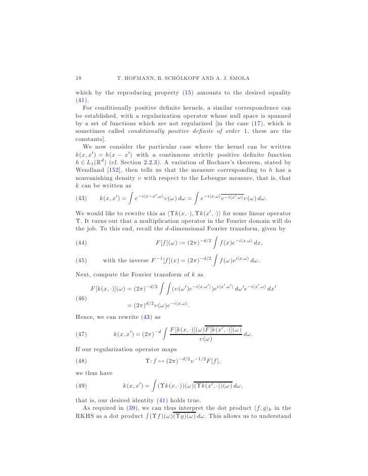 kernel methods in machine learning