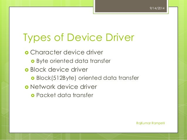 Introduction to Kernel and Device Drivers