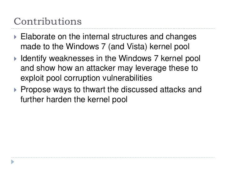 Modern Kernel Pool Exploitation Attacks And Techniques