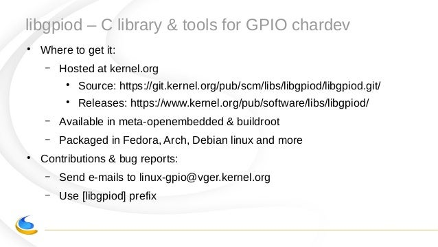 Kernel Recipes 2018 - New GPIO interface for linux user