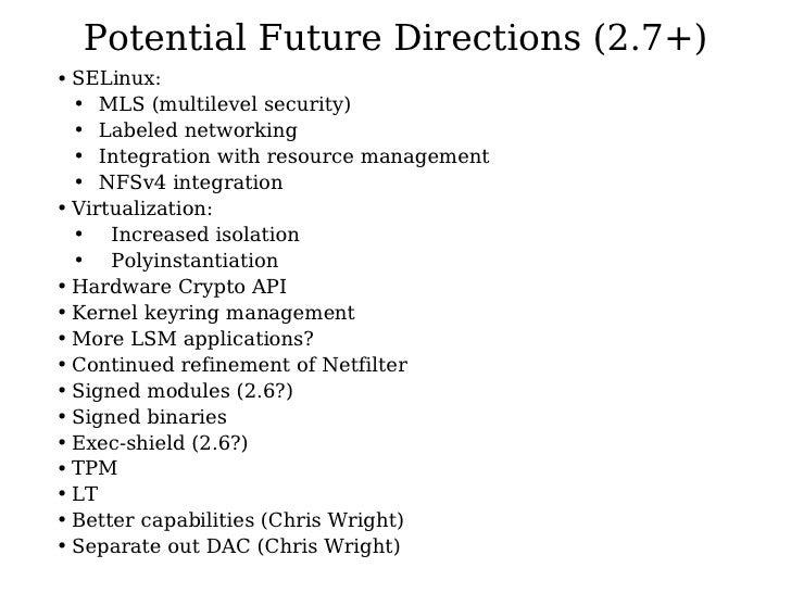 Kernel Security for 2.8 - Kernel Summit 2004 Slide 3