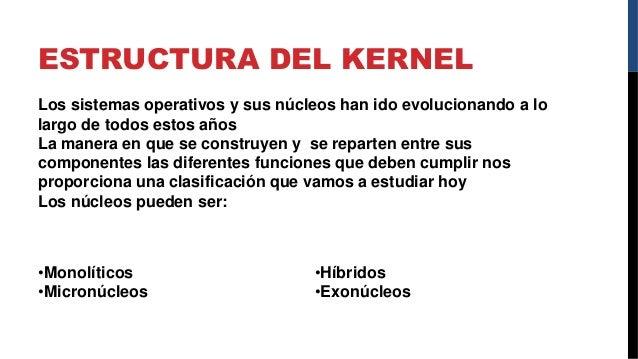 Kernel Y Shell Tipos