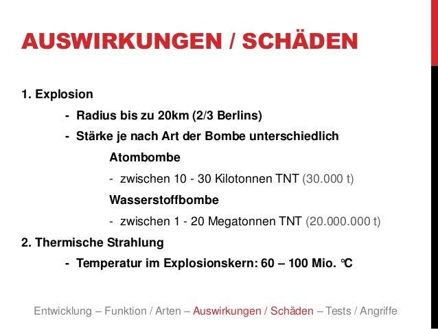 Wasserstoffbombe Auswirkung