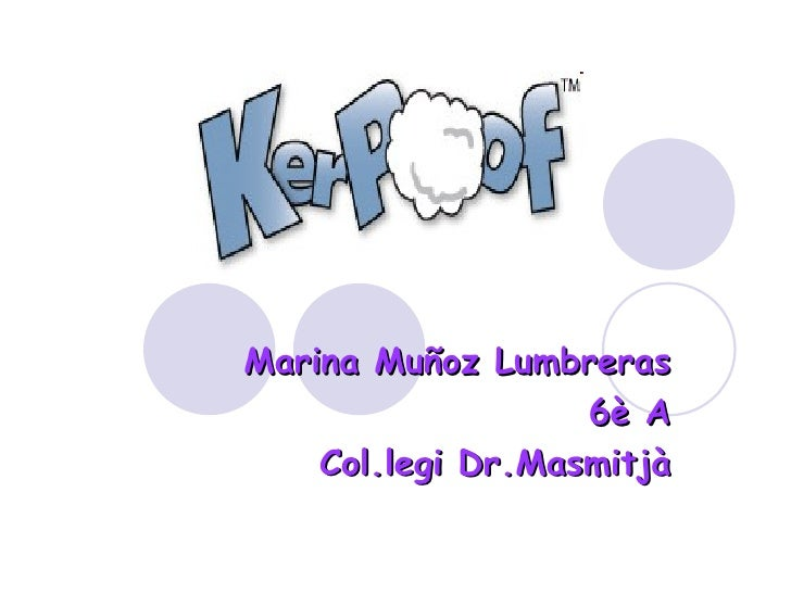 Marina Muñoz Lumbreras 6è A Col.legi Dr.Masmitjà