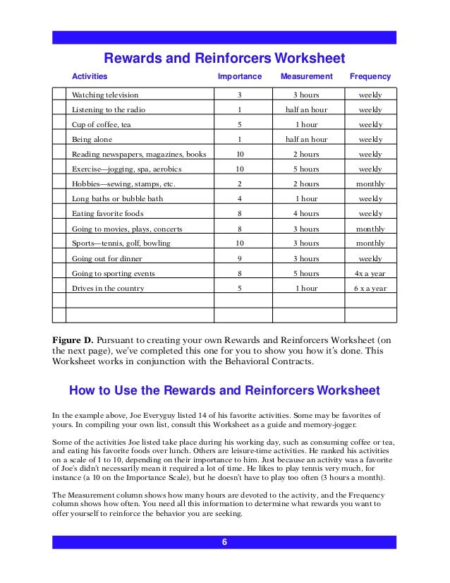 Self Discipline Worksheets - Checks Worksheet