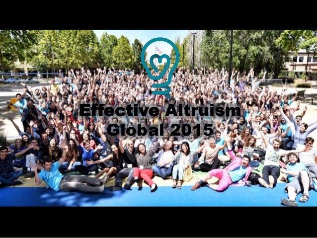 Effective Altruism Global 2015