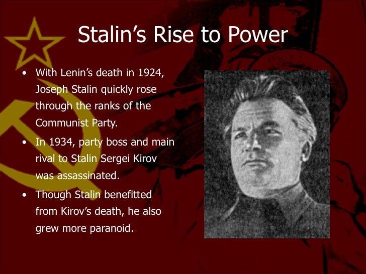joseph stalins rule essay