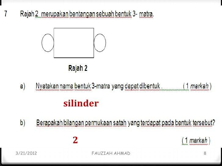 Soalan dan Jawapan Kertas 2 Matematik UPSR