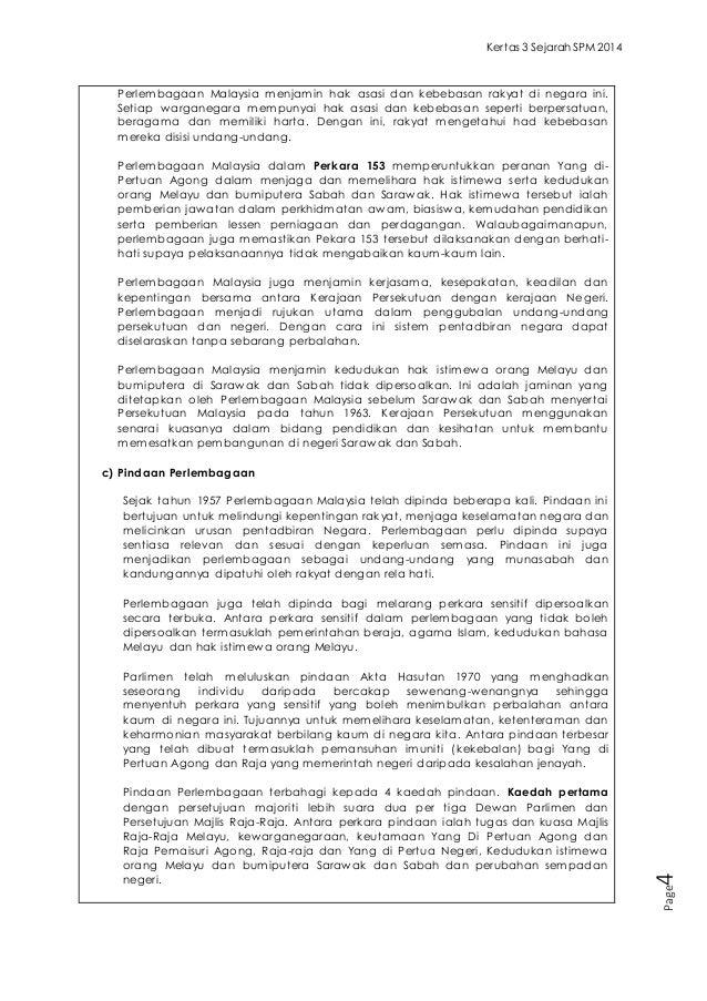 Contoh Soalan dan Jawapan Kertas 3 Sejarah SPM 2014