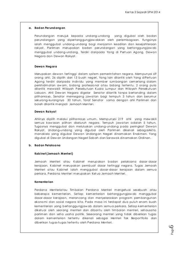 Contoh Jawapan Sejarah Kertas 3 Tingkatan 5 Bab 9 - Contoh Yes