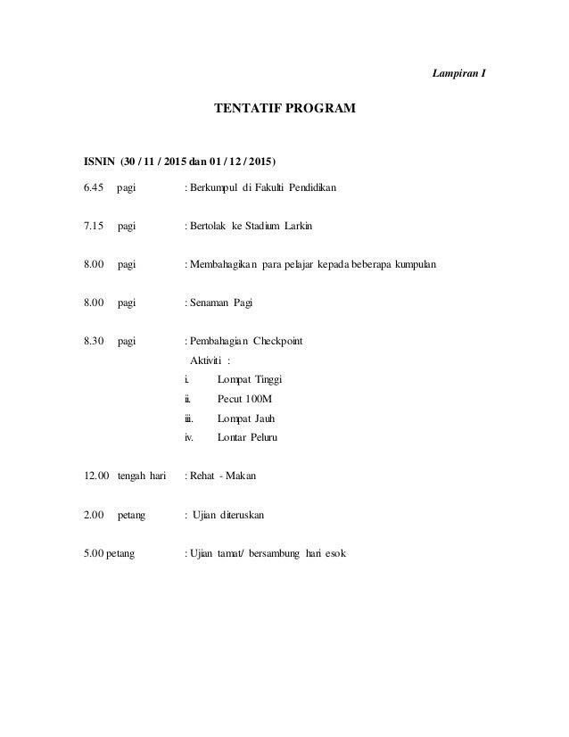 Kertas Kerja Program Sekolah