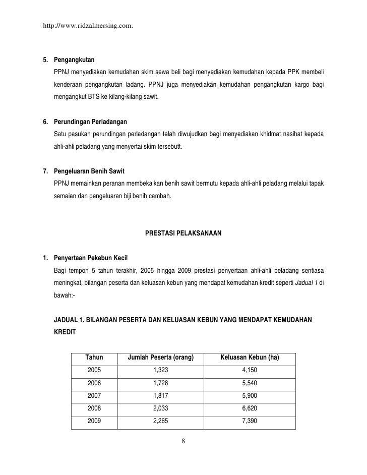 http://www.ridzalmersing.com.5. Pengangkutan   PPNJ menyediakan kemudahan skim sewa beli bagi menyediakan kemudahan kepada...
