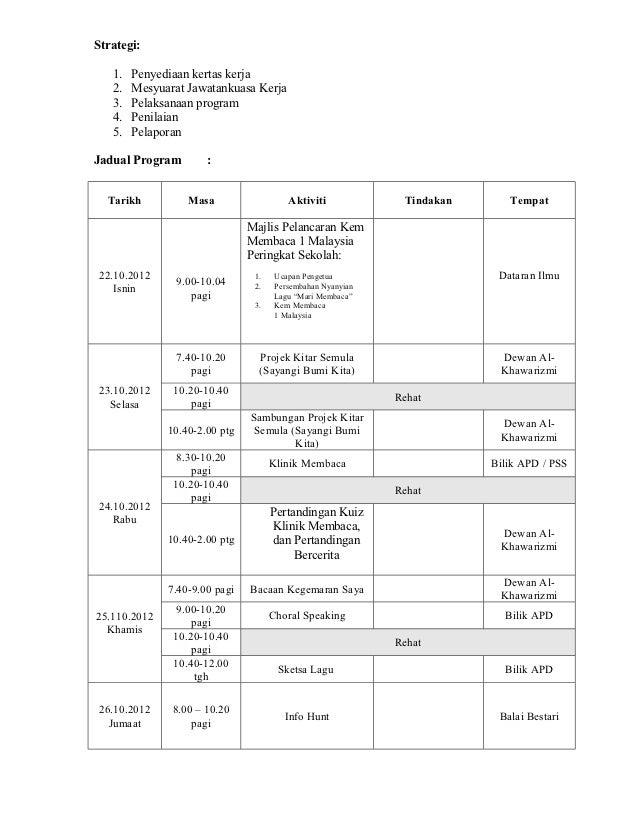 Kertas Kerja Kem Membaca 1malaysia 2012sampel